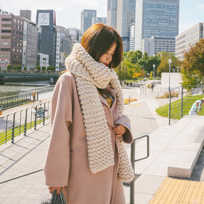 Dabagirl Long Knit Muffler